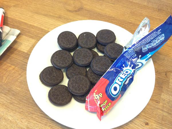 "alt=""Toothpaste filled oreos - a minty yet unexpected treat for the victims of this April Fool!"""